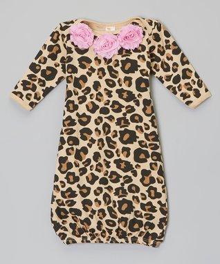 Leopard Flower Gown - Infant