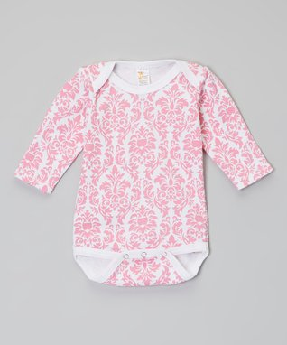 White & Pink Flower Gown - Infant