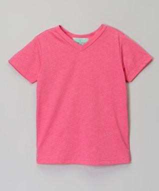 Light Pink Scoop Neck Burnout Tee - Infant, Toddler & Girls