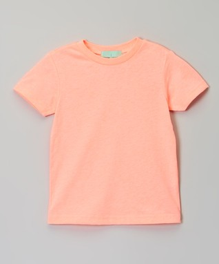 Peach Crew Neck Tee - Infant, Toddler & Girls