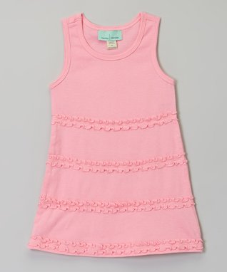 Bubble Pink Ruffle A-Line Dress - Infant, Toddler & Girls