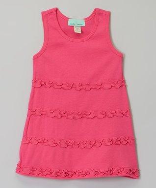 Light Pink Ruffle A-Line Dress - Infant, Toddler & Girls