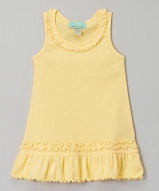 White Ruffle A-Line Dress - Infant, Toddler & Girls