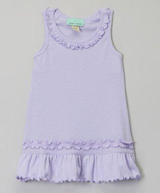 Lavender Ruffle Sleeveless Dress - Infant, Toddler & Girls