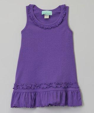 Black Ruffle Sleeveless Dress - Infant, Toddler & Girls