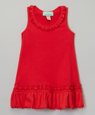 Purple Ruffle Sleeveless Dress - Infant, Toddler & Girls
