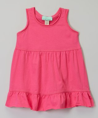 Hot Pink Ruffle Babydoll Dress - Infant, Toddler & Girls