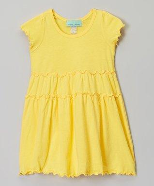 Light Pink Tiered Short-Sleeve Dress - Infant, Toddler & Girls