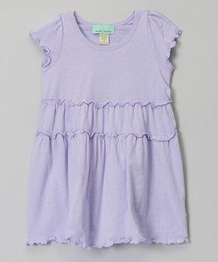 Lavender Tiered Short-Sleeve Dress - Infant, Toddler & Girls