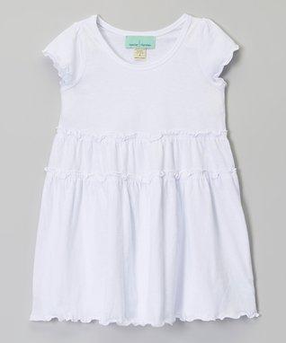 Black Tiered Short-Sleeve Dress - Infant, Toddler & Girls