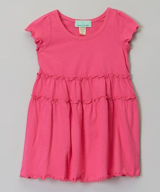 White Tiered Short-Sleeve Dress - Infant, Toddler & Girls