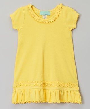 Hot Pink Tiered Short-Sleeve Dress - Infant, Toddler & Girls