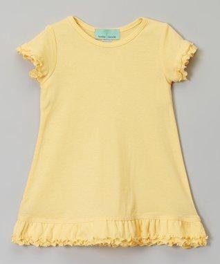 Light Yellow Ruffle A-Line Dress - Infant, Toddler & Girls