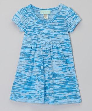 Blue & White Burnout Dress - Infant, Toddler & Girls