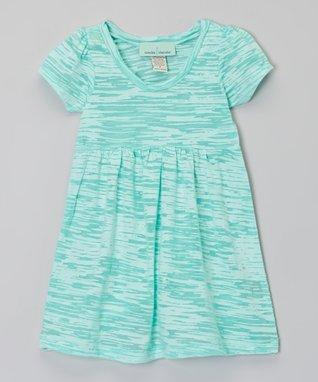 Green Burnout Dress - Infant, Toddler & Girls