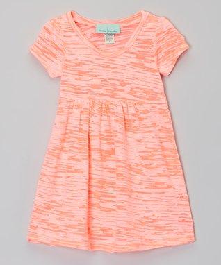 Peach Burnout Dress - Infant, Toddler & Girls