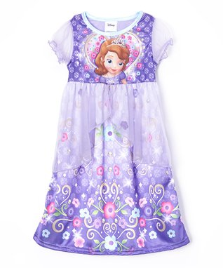 Purple Sofia Fantasy Nightgown - Toddler & Girls