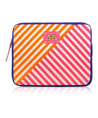 Passion Pink Stripe Sleeve for iPad