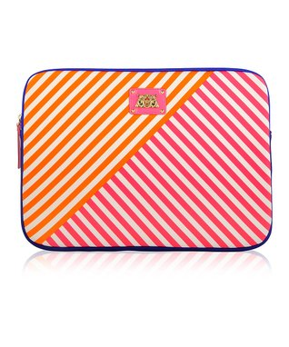 Passion Pink Stripe Sleeve for 13'' MacBook Pro