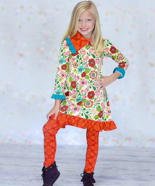 Petals Shawna Dress & Leggings - Infant, Toddler & Girls