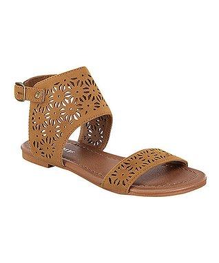 Tan Perforated Alvina Sandal