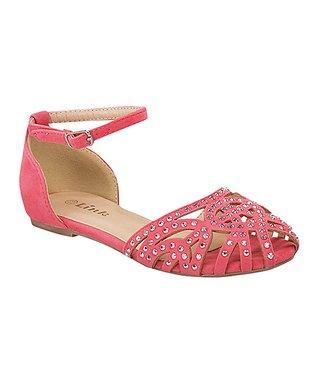 Coral Embellished Bella Ankle Strap Sandal