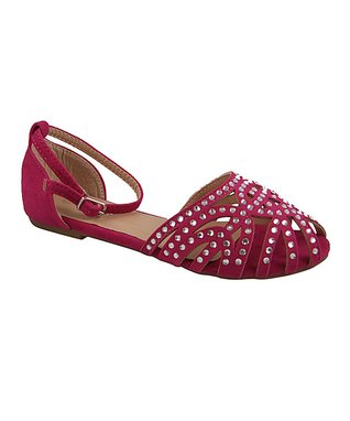 Purple Perforated Low Wedge Loafer