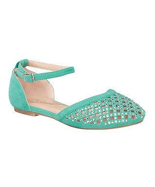 Mint Bella Grid Ankle Strap Sandal