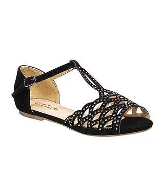 Black Bella Open Toe Sandal