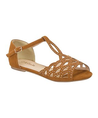 Red Bella Grid Ankle Strap Sandal