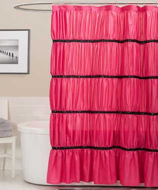 Pink Lake Como Shower Curtain