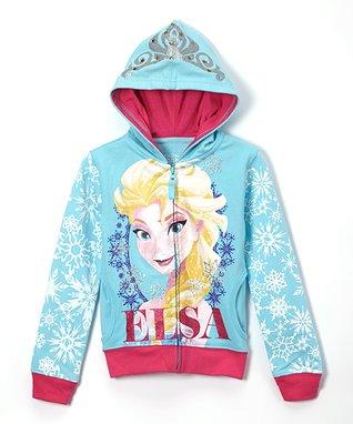 Aqua 'Elsa' Hoodie - Girls