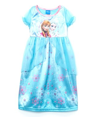 Blue Frozen Fantasy Nightgown - Girls