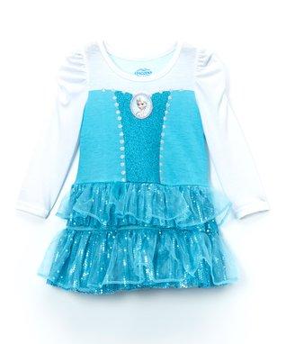 Blue Sequin Frozen Elsa Dress - Girls
