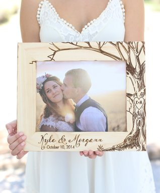 Rustic Tan Personalized Newlywed Frame