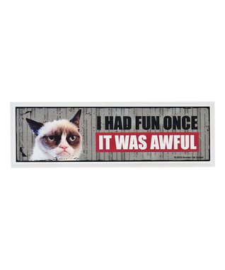 Grumpy Cat 'It Was Awful' Sign