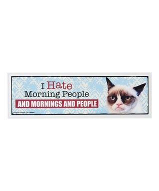 Grumpy Cat 'I Hate Morning People' Sign
