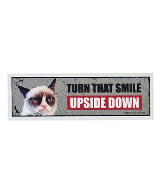 Grumpy Cat Turn 'That Smile Upside' Down Sign