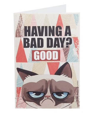 Grumpy Cat 'Having A Bad Day?' Card - Set of Eight