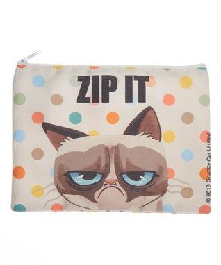 Grumpy Cat 'Zip It' Zip Pouch