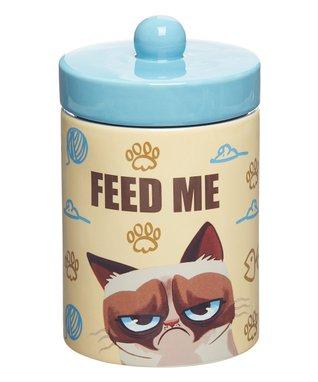 Grumpy Cat 'Feed Me' Treat Jar