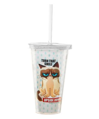 Grumpy Cat 'Turn That Smile Upside Down' Insulated Tumbler