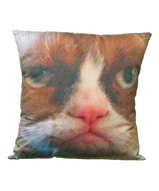 Grumpy Cat Face Throw Pillow