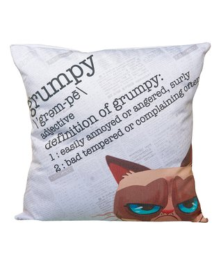 Grumpy Cat Grumpy Definition Throw Pillow