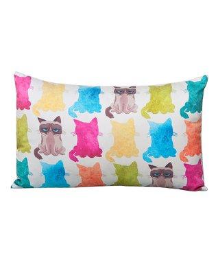 Grumpy Cat Grumpy Pattern Throw Pillow