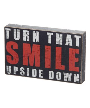 Grumpy Cat 'Turn That Smile' Box Sign