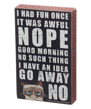 Grumpy Cat Slogans Box Sign