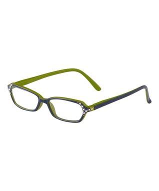 Navy Blue & Green Hadley Eye Candy Readers