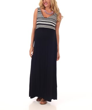 PinkBlush Brown Halter Maternity Maxi Dress - Women