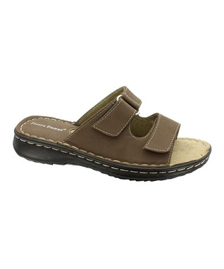 Taupe Bianca Two-Strap Slide